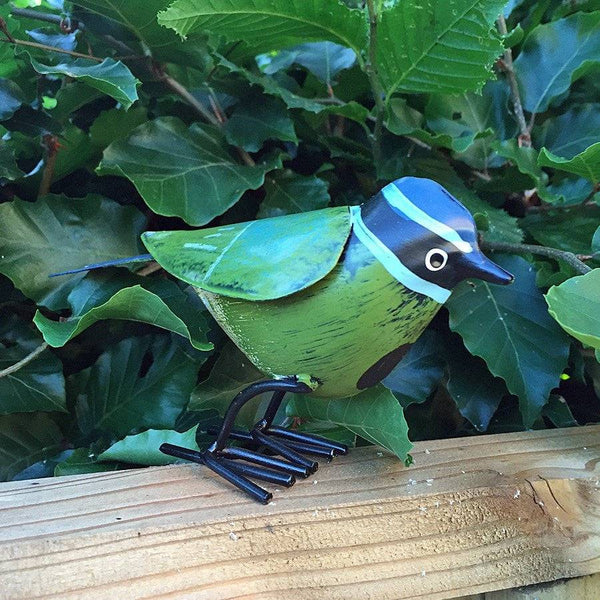 Metal Blue Tit Garden Ornament - The Farthing