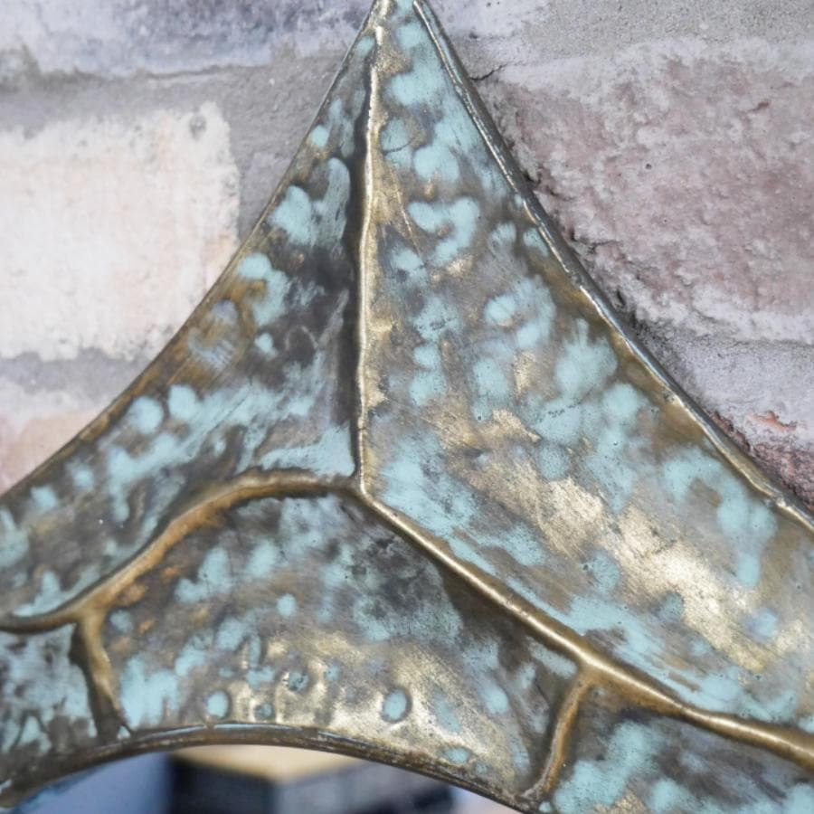 Metal Six Pointed Star Mirror at the Farthing