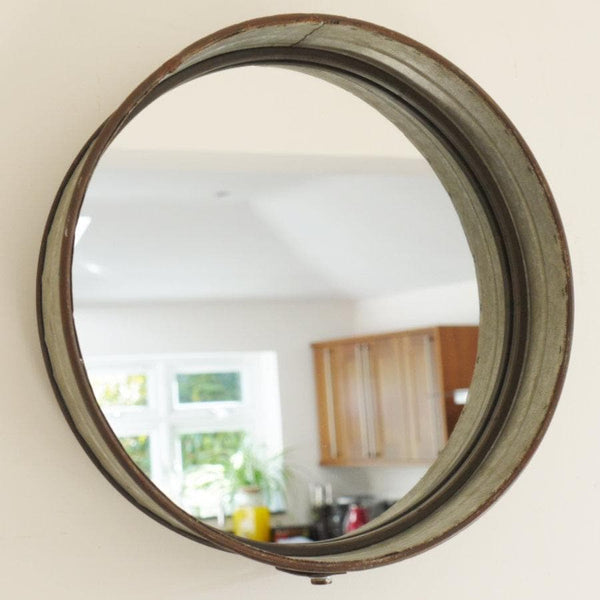 Metal Round Wespoint Wall Mirror at the Farthing