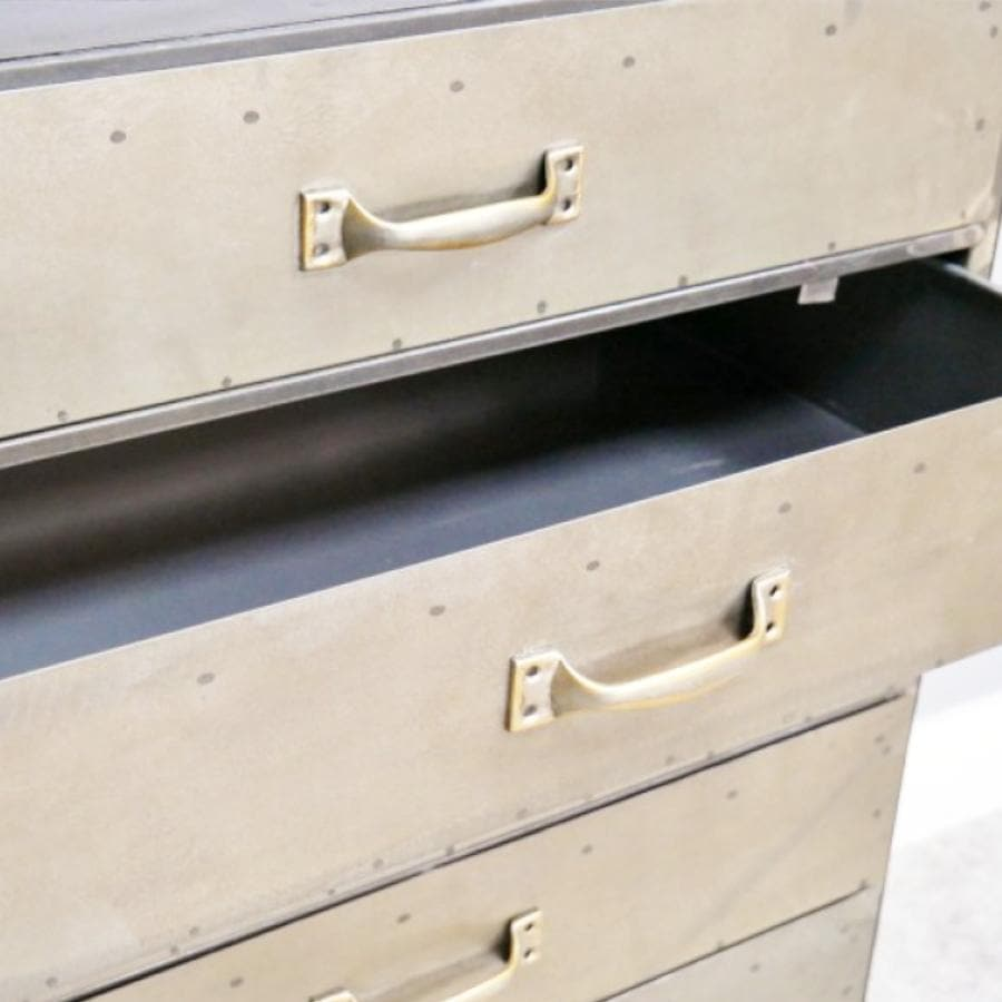 Metal Six Drawer Cabinet at the Farthing