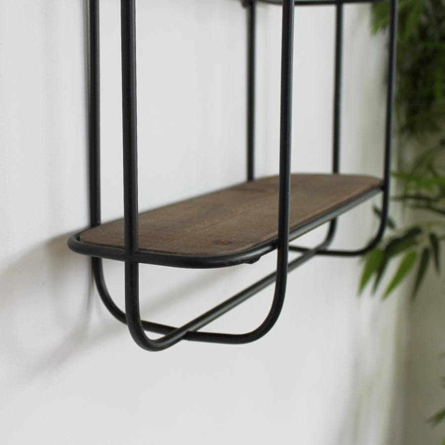 Metal & Wood Milton Wall Shelf at the Farthing