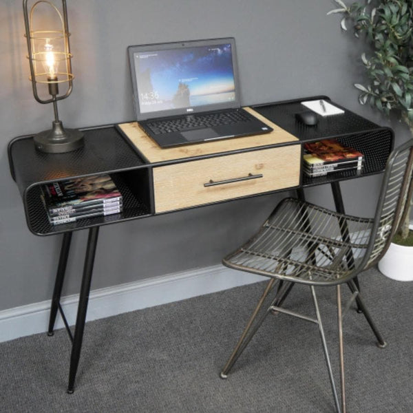 Metal and Wood Winterbourne Desk