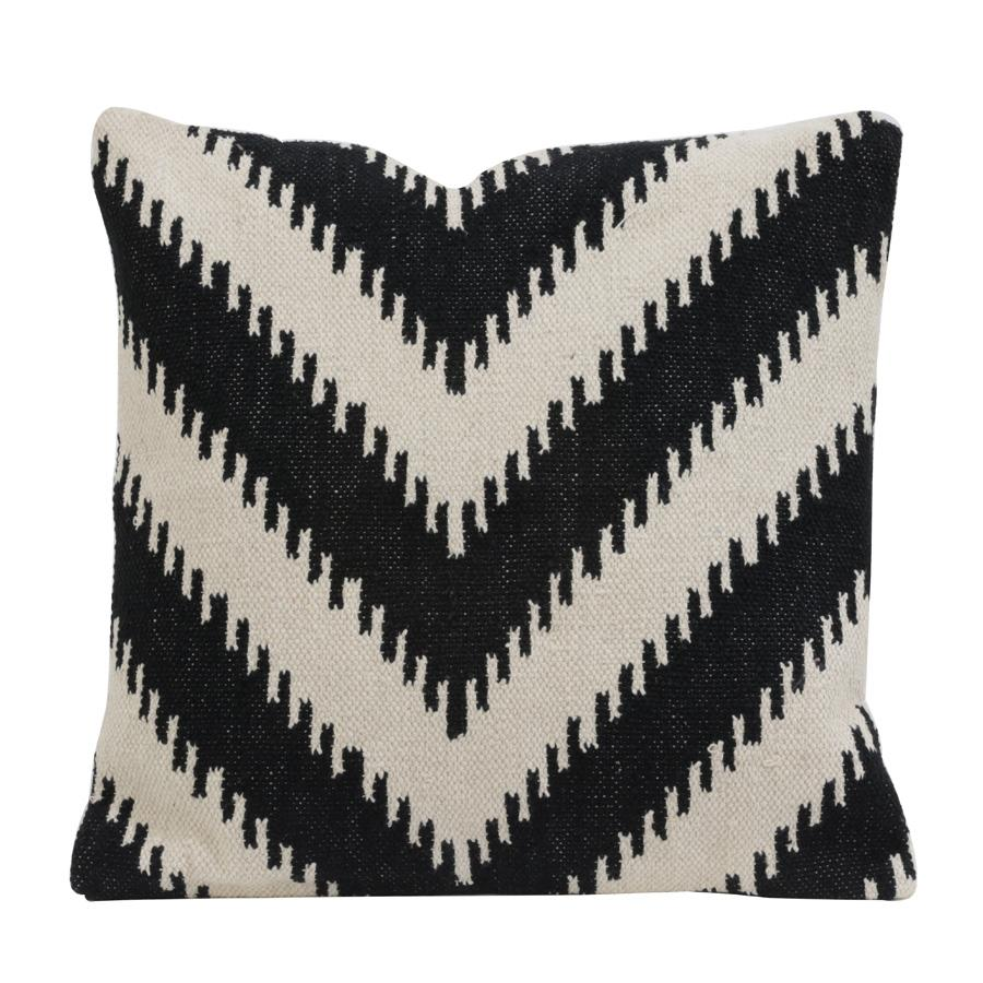 Monochrome Chevron Cushion at the Farthing  5
