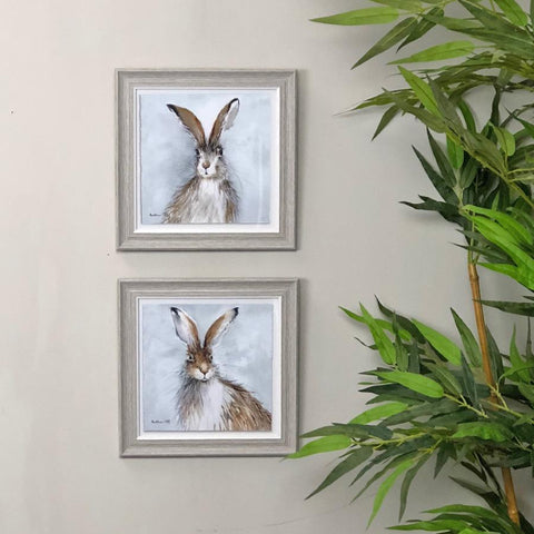 Mopey & Misty Framed Hare Prints at the Farthing 2