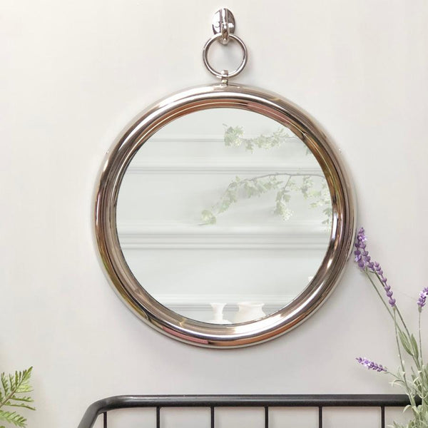 Nickel Hanging Wall Mirror | Farthing