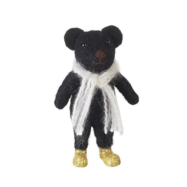 Standing Felt Bernie Bear Decoration