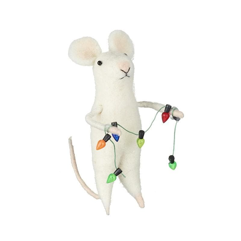 Felt Christmas Mouse with Light Garland | Farthing 1