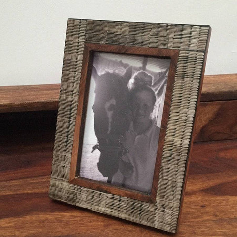 Natural Chiseled Horn Photo Frame - The Farthing