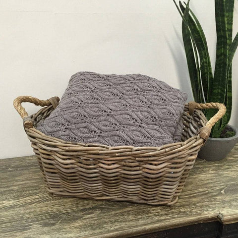 Natural Rattan Bathroom storage basket - The Farthing