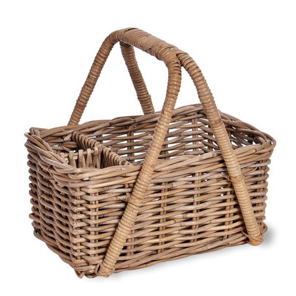 Natural Rattan Bembridge Picnic Basket - The Farthing  - 1