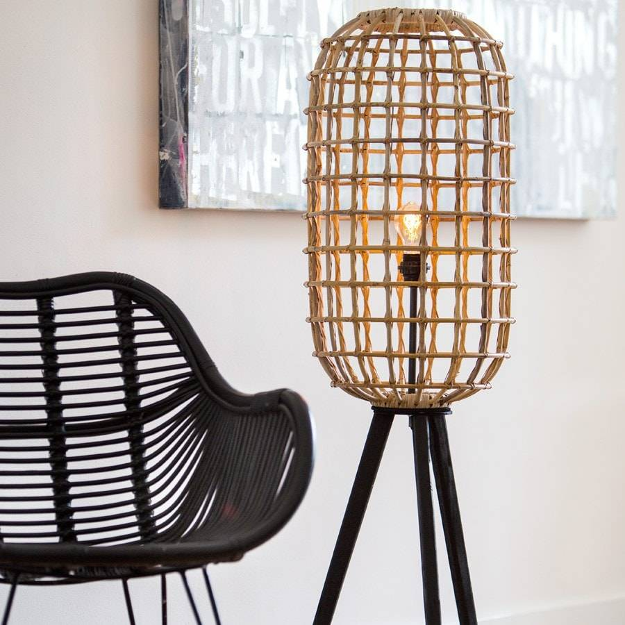Natural Rattan Noah Floor Lamp   The Farthing ...