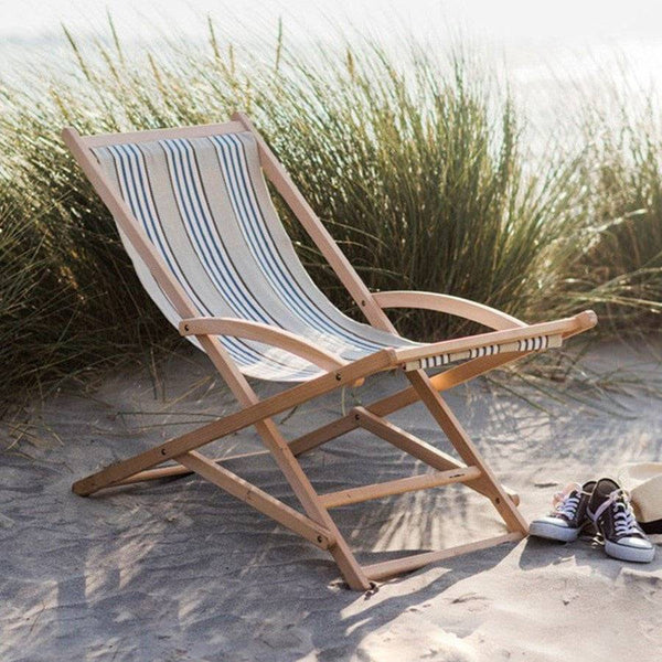 Natural Wood Rocking Deck Chair - The Farthing