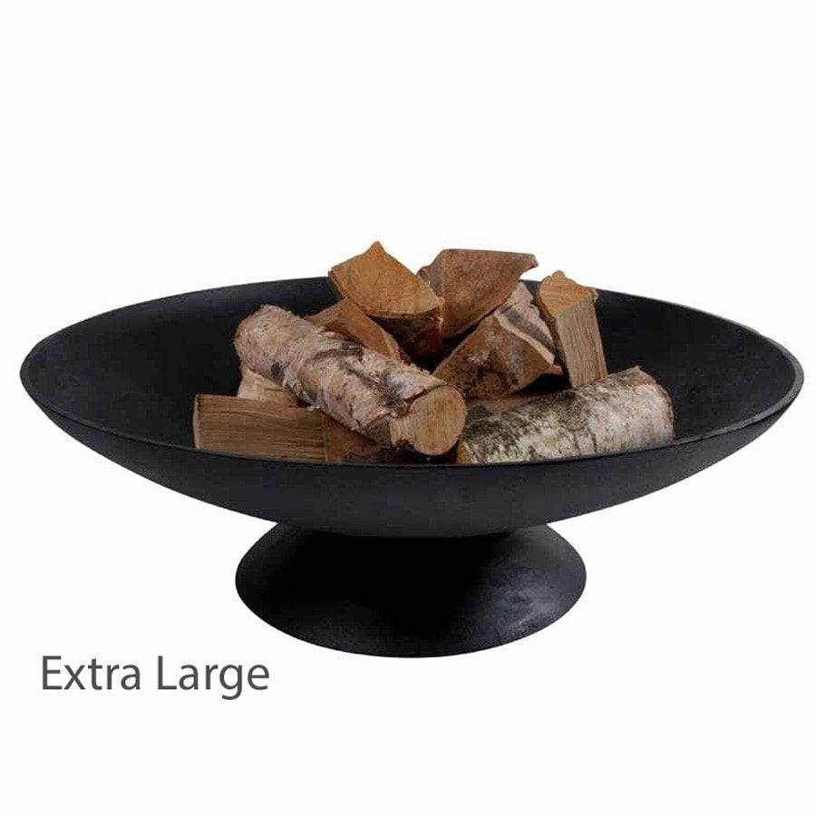 Rustic Cast Iron Braziers Round Garden Fire Pits The