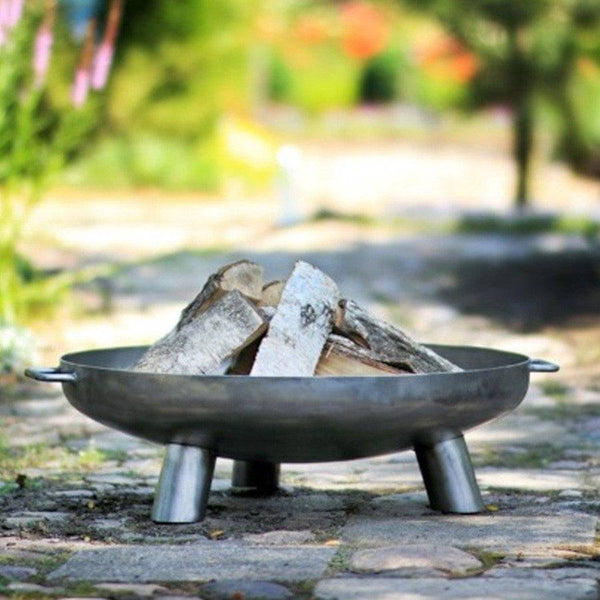 Oversized Nordic Steel Fire Pit Brazier - 100cm - The Farthing