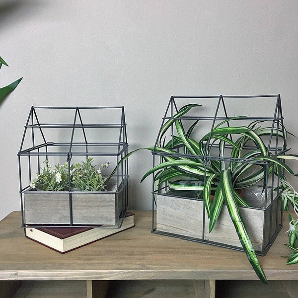 Open Frame Indoor Plant House Set - The Farthing