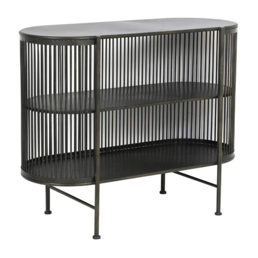 Open Fronted Rounded Edge Metal Storage Cabinet