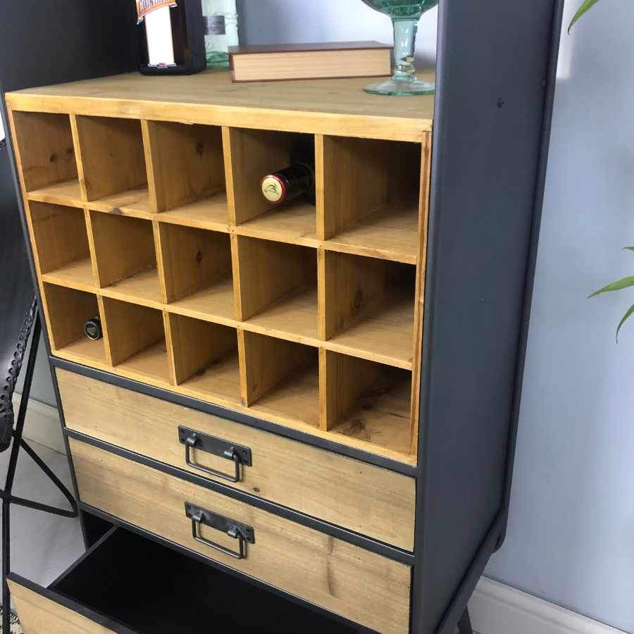 Open Fronted Wine / Drinks Storage Cabinet 1