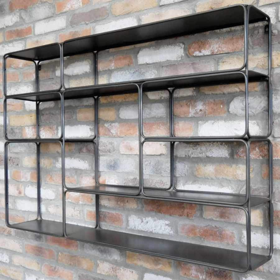 Open Industrial Inspired Dudley Wall Shelf