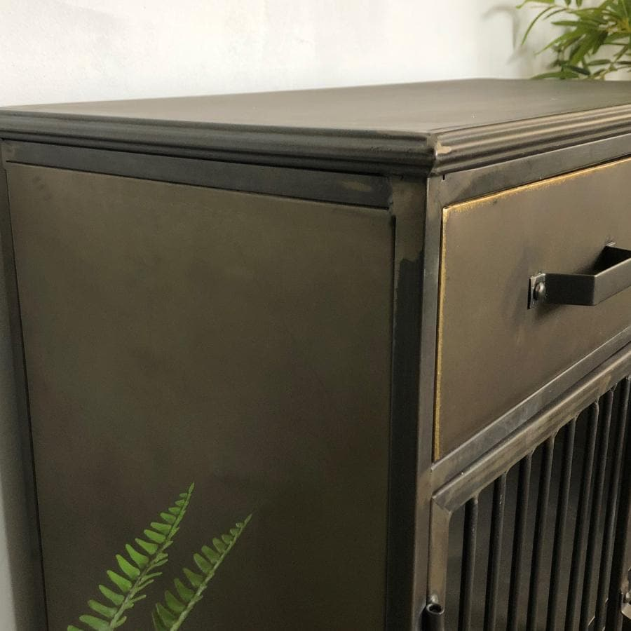 Open Industrial Metal Drawer Cabinet at the Farthing