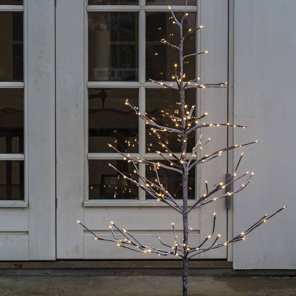 Outdoor / Indoor Light up Led Snowy Birch Tree - 120cm - The Farthing  - 1