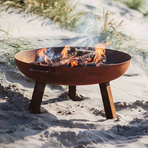 Outdoor Fire Pit Brazier Bowl - 80cm - The Farthing