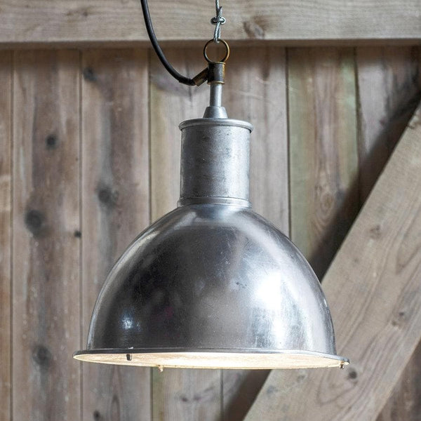 Industrial Dome Indoor \ Outdoor Pendant Light | Farthing