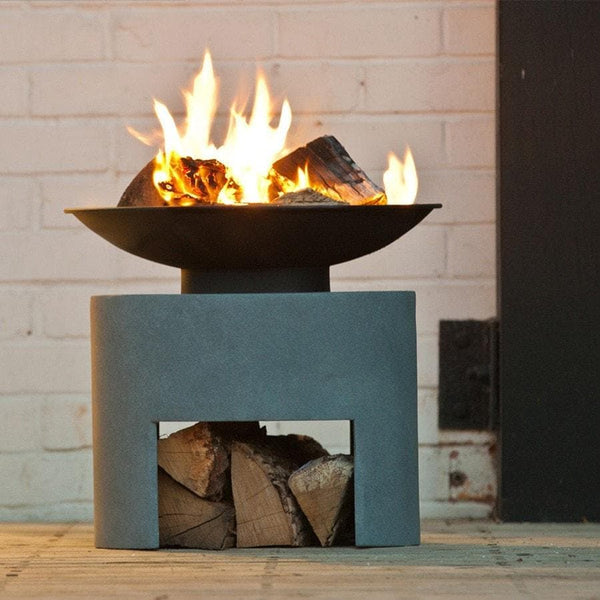 Fire Bowl With Low Cement Fibre Stand - The Farthing