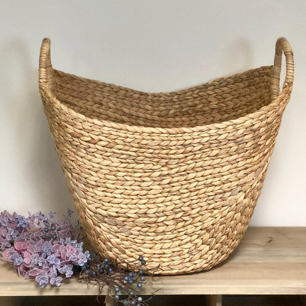 Oval Woven Laundry Basket at the Farthing 1