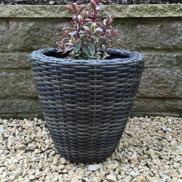 PE Rattan Conservatory Planter - 40cm - The Farthing