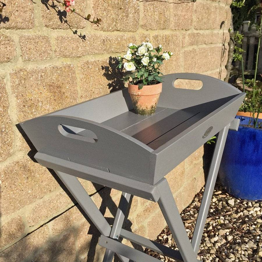 ... Parisian Dove Grey Wooden Butlers Tray Table   The Farthing   2