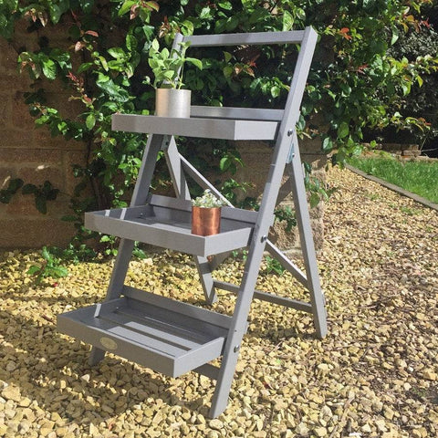 Tiered metal plant stands wooden chic plant ladders at the farthing the farthing - Steel pot plant stands ...