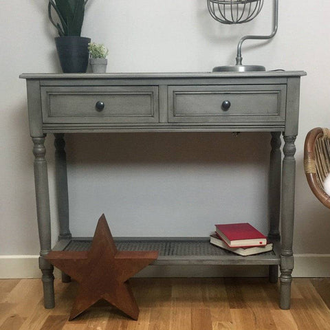 Parisian Grey Console Table - The Farthing