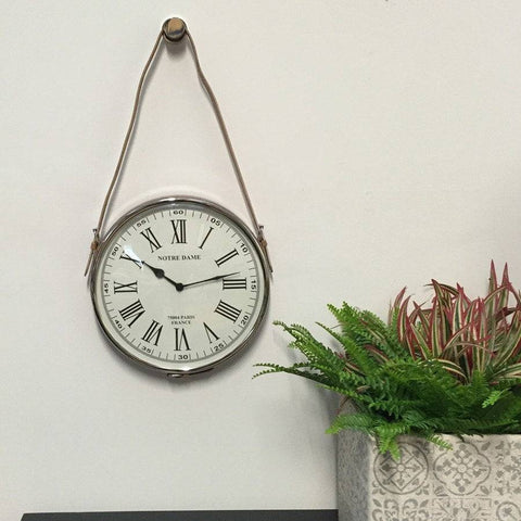 Parisian Leather Satchel Wall Clock - The Farthing