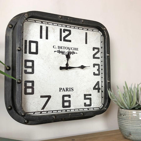 Parisian Square Wall Clock | Farthing 1
