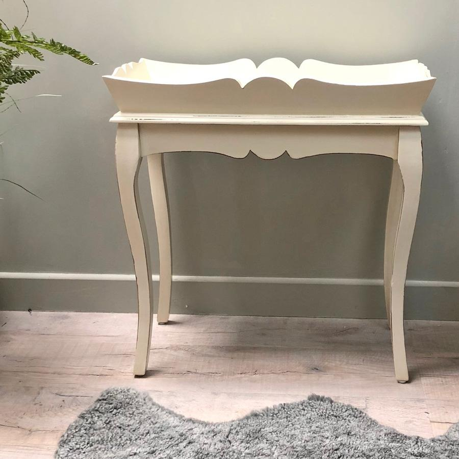 Parisian White Wooden Butlers Table | Farthing 22