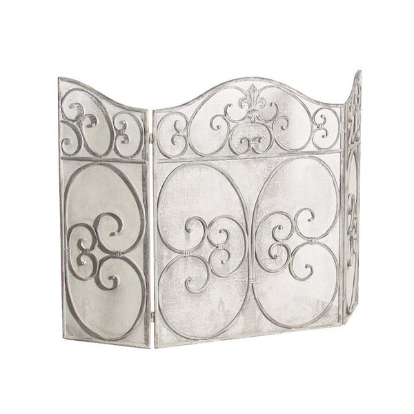 Parisian Grey Metal Fire Screen at the Farthing