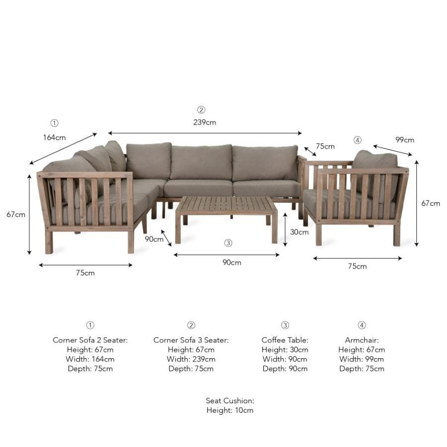 Porthallow Outdoor Sofa Set at the Farthing