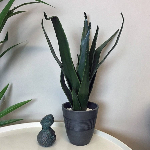 Potted Faux Green Aloe Vera - The Farthing