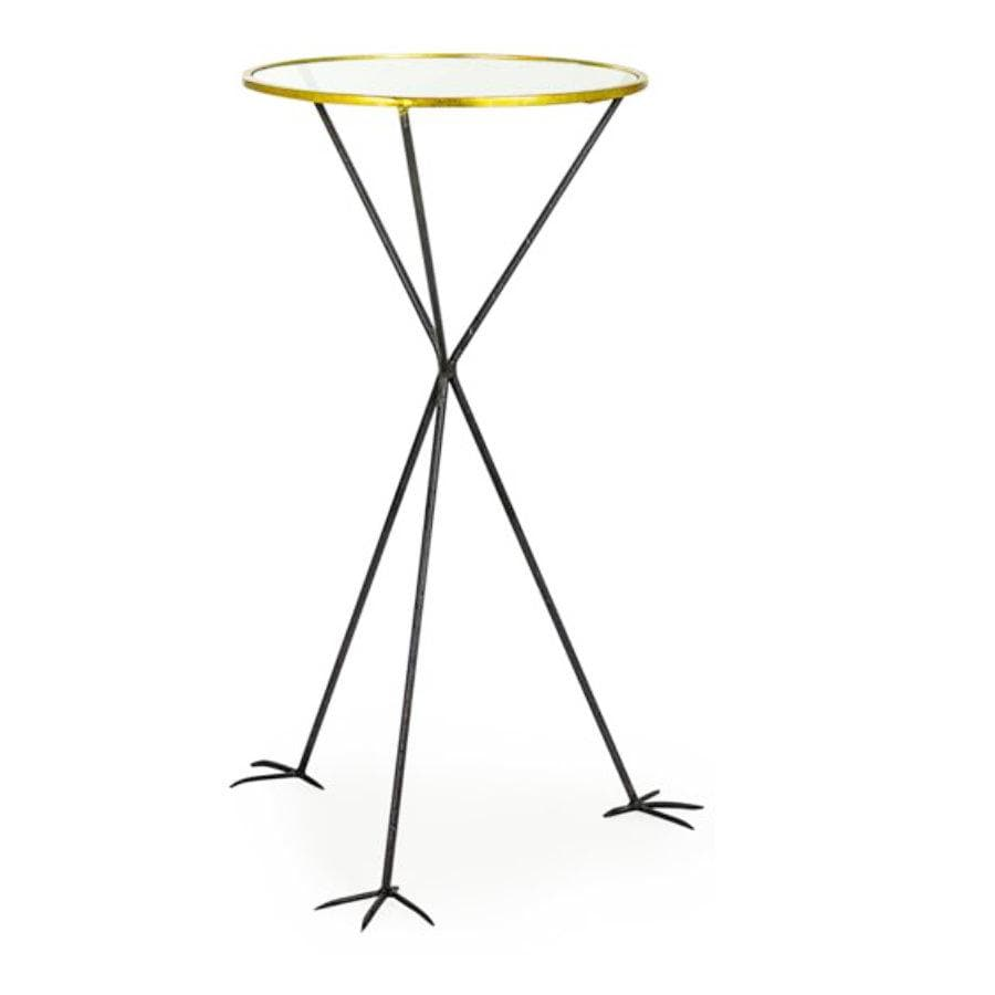 Round topped Bird Feet Side Table