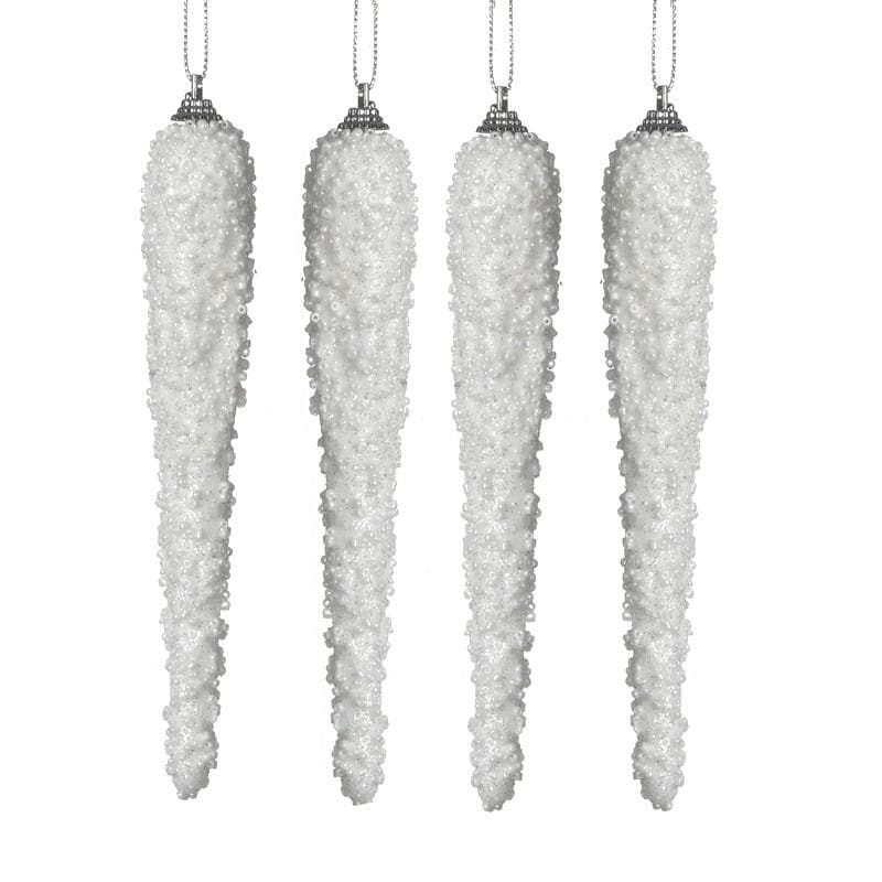 White Snowy Icicles Set Of 4 at the Farthing