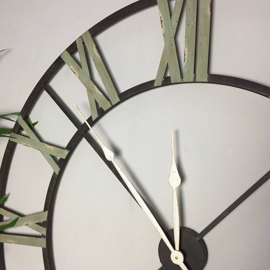 RUSTIC OVERSIZED IRON SKELETON CLOCK - The farthing