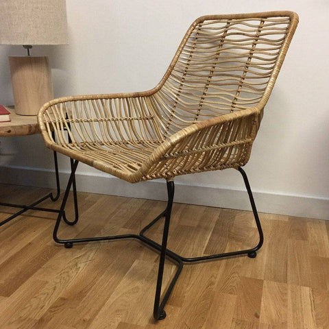 Rattan Armed Chair - The Farthing