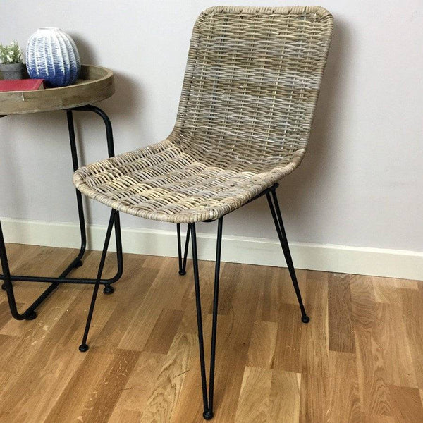 Rattan Dining Chair - Natural - The Farthing