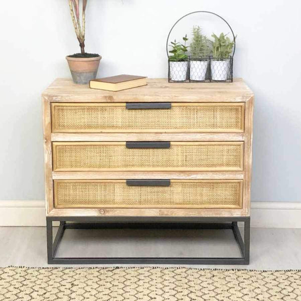 Rattan Wedded Falmouth Chest of Drawers | Farthing