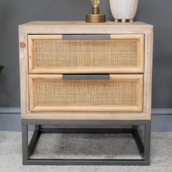 Rattan Wedded Falmouth Side Cabinet | Farthing