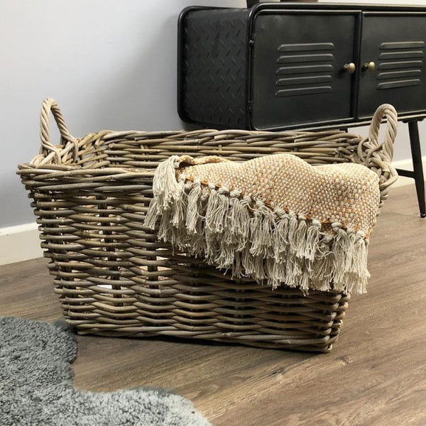 Rattan Rectangular Laundry Basket | The Farthing