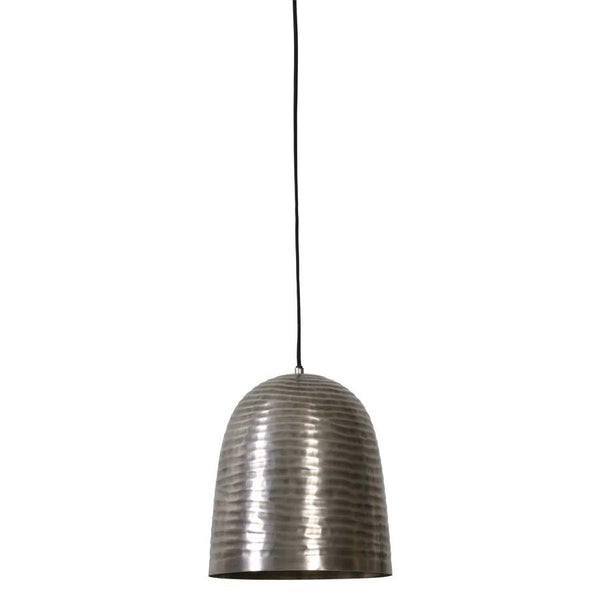 Raw Nickel Dome Pendant Light at the Farthing