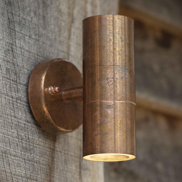 Raw Copper Up and Down Light at the Farthing