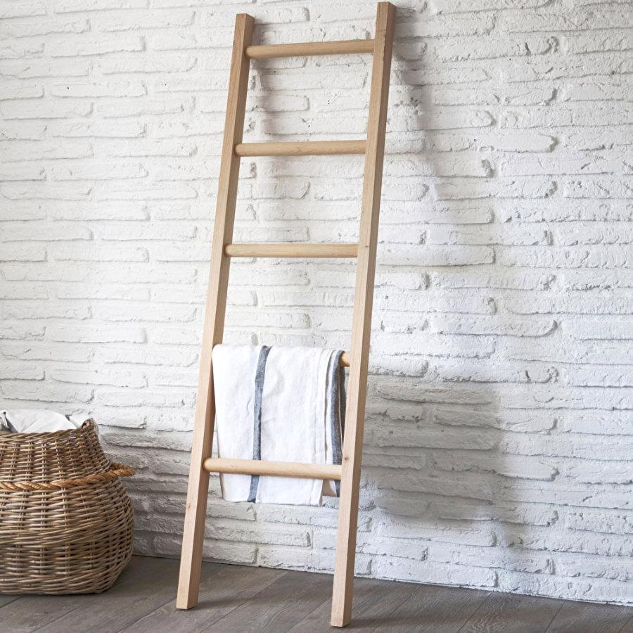 Raw Oak Hambledon Towel Ladder 22