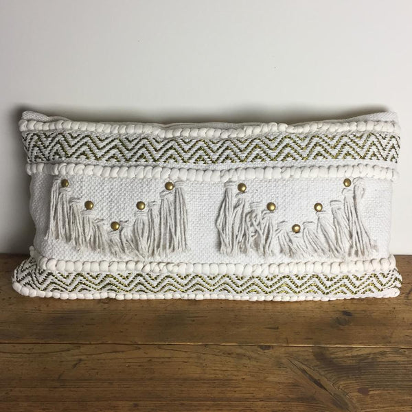 Rectangle Tassel Boho Cushion at the Farthing